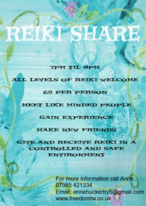 Reiki Share @ Swadlincote Therapy Rooms