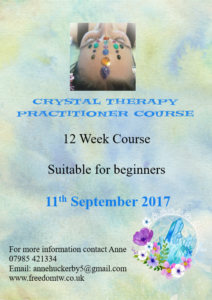 Crystal Therapy Practitioner Course @ Swadlincote Therapy Rooms