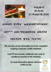 Hopi Ear Candles @ Swadlincote Therapy Rooms