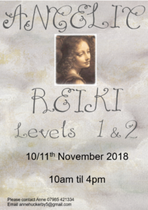 Angelic Reiki Level 1 & 2 @ Swadlincote Therapy Rooms